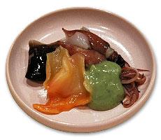 赤貝、とり貝、ほたるいか、木の芽味噌