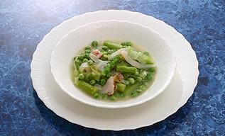 えんどう豆の新緑煮込み