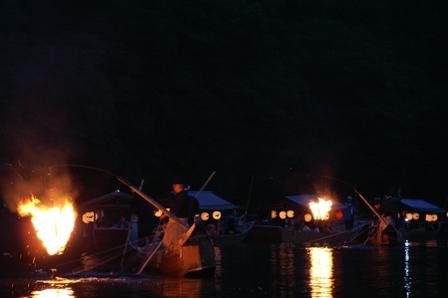 嵐山夏の風物詩「鵜飼 -Comorant Fishing-」