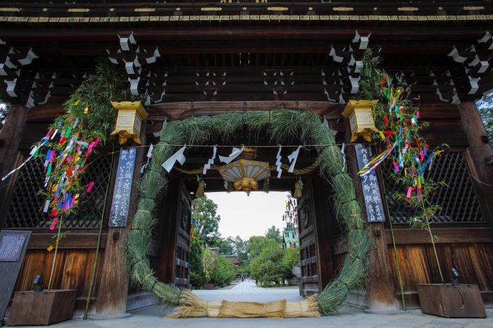北野天満宮 御誕辰祭 大茅の輪くぐり(ごたんしんさい・おおちのわくぐり)