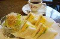 京都の定番編「COFFEE HOUSE maki」  昭和の風格漂う〝ザ・王道の喫茶店〟にて、 定番&斬新なサンドイッチを