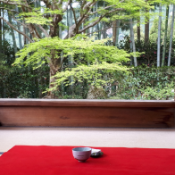 【宝泉院】長年愛されるオリジナルの和菓子と、熟練の技が見せる美味しいお抹茶♪~700年の時を駆ける景色とともに~