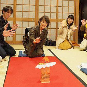 まいまい京都【京扇子】扇屋女将と投扇興・ミニ茶席、扇子のたしなみ指南付き