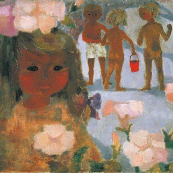 美術館「えき」KYOTO 生誕100年 いわさきちひろ、絵描きです。