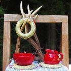 ワコールスタディホール京都 コンテンポラリージュエリー作家に学ぶ藁細工 「藁の鍋敷き作り」