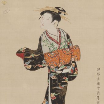 京都文化博物館 美を競う 肉筆浮世絵の世界