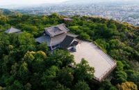 まさに絶景! 青蓮院門跡 将軍塚青龍殿の大舞台のさらに上空から京都市内をドローンで一望してみた!
