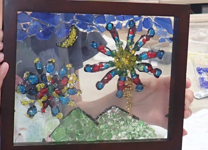 【京エコロジーセンター】ガラス絵作り〜空きびんのリサイクル体験〜