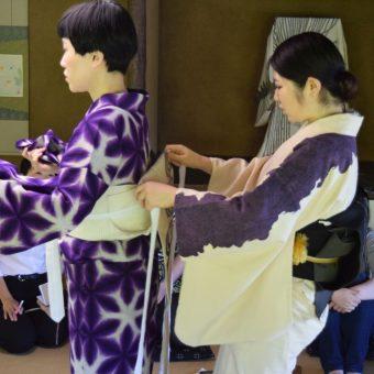 無鄰菴きもの教室 -生活の中に文化を!- 7月、8月は浴衣の着方と帯結び