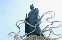 レンタサイクルで巡る亀岡「明智光秀公像」「カメオカハサムコッペパン」