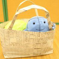京エコロジーセンター エコセンスタッフとやってみよう!新聞バッグづくり