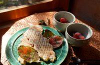第15回 〝立冬(りっとう)〟に「柚子の香りの薄焼きパイとりんごの赤ワイン煮くず湯仕立て」を