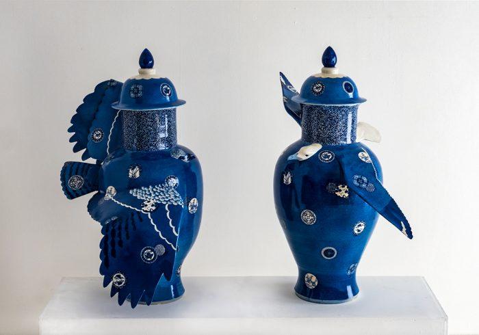 桝本佳子 個展「Blue Birds/Blue Ceramics」(ワコールスタディホール京都)